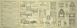 Advert for J & R Hawley, furniture store, reverse side